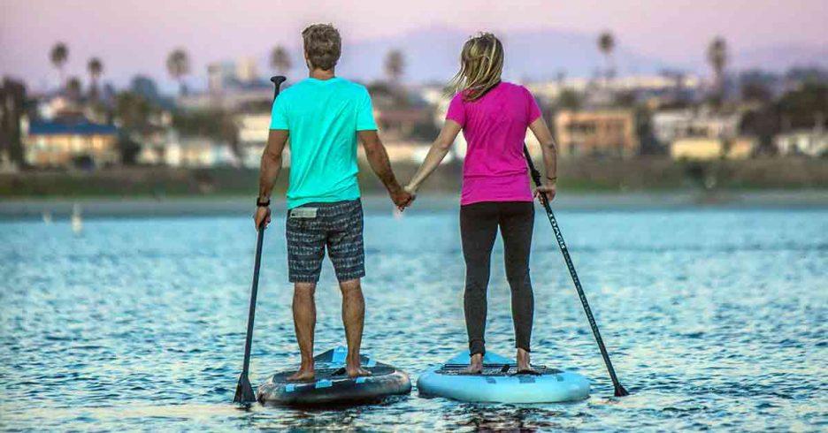 Practicar Paddle Surf en familia