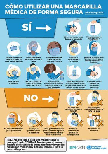 Como usar una mascarilla quirúrgica