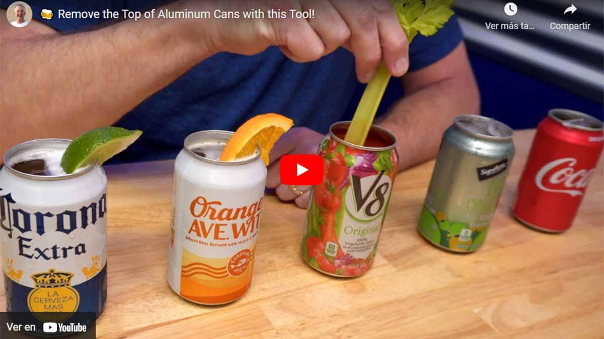 Video explicativo para abrir latas de refresco o cerveza