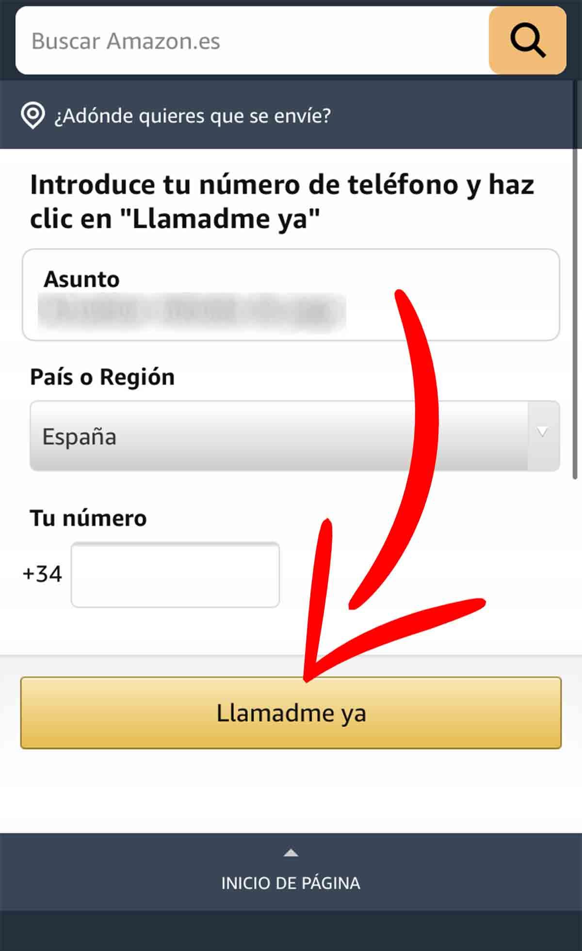 Llamadme ya en Amazon