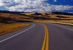 Carretera hacia adelante, como la vida.
