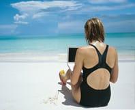 De vacaciones con el portátil