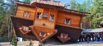 Construyen en Polonia una casa para vivir al revés