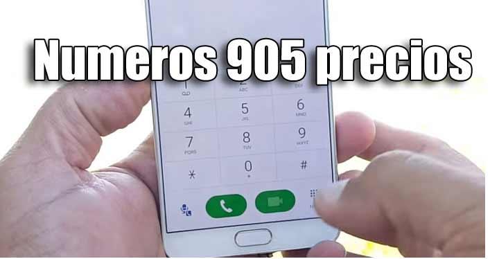 Los números de teléfono que empiecen por 905 serán servicios de pago