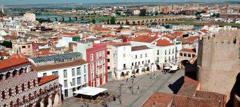 Vista de la ciudad de Badajoz, en Extremadura