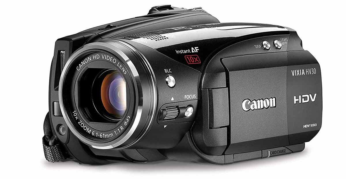 Nueva videocámara Canon HD HV30, aún mejor que lo mejor