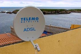 Conexión de banda ancha vía satélite allí donde no llega el ADSL