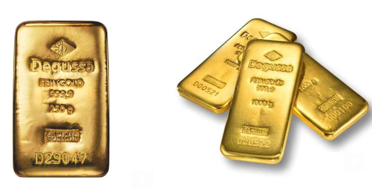 Lingotes de oro: el nuevo regalo navideño