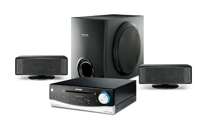 Dos sistemas de home cinema de Sharp
