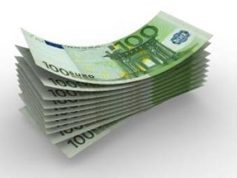 Fajo de billetes de 100 euros.