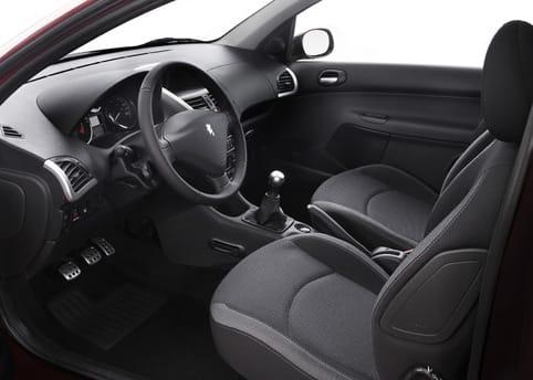Interior del Peugeot 206