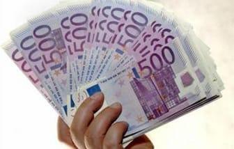 Fajo de billetes de 500 euros.