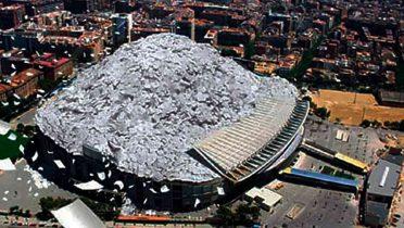 El Camp Nou se llenaría tres veces al año con papel de las impresiones