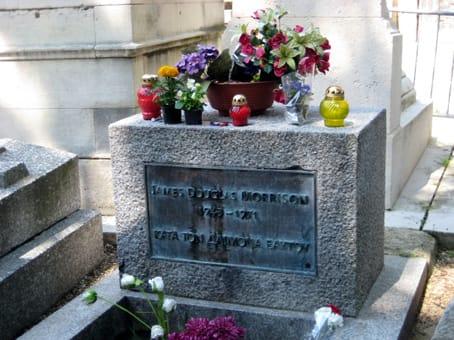 Tumba de Jim Morrison en Paris