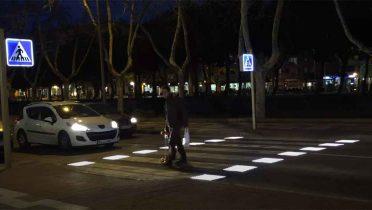 Pasos de peatones inteligentes de España