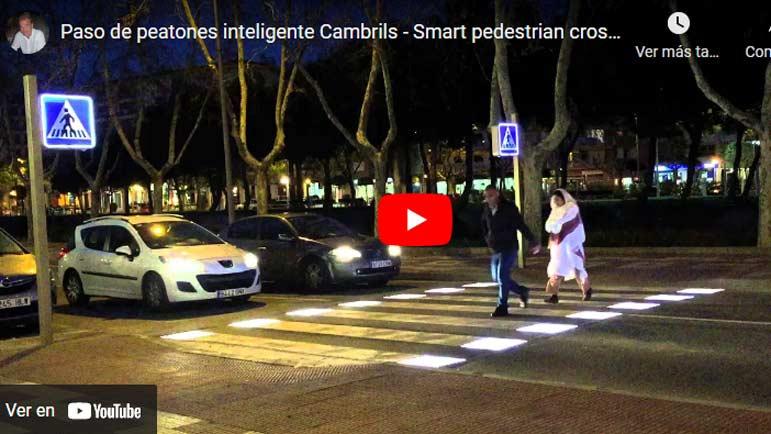 Video explicativo paso de peatones en Cambrils