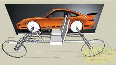 Cómo hacerse un Porsche con dos bicicletas, cartón y cinta de embalar