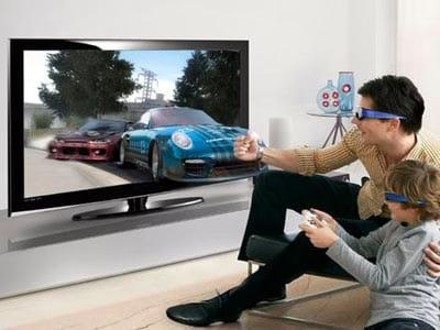Pelicula en 3D con gafas