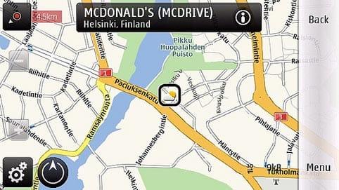 Publicidad de McDonald en el teléfono móvil