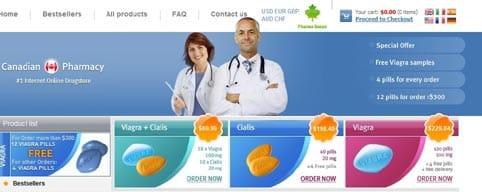 Web de spam farmaceutico