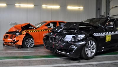 BMW Serie 5 después de crash-test