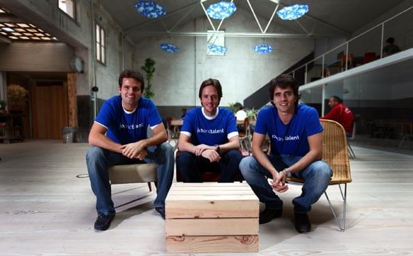 Felipe Navío, Juan Urdiales, Tabi Vicuña y Alberto Mateos, fundadores de jobandtalent
