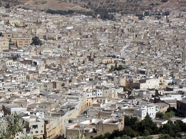 La medina de Fez tiene una extensión de 350 hectáreas