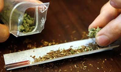Porro de cannabis.