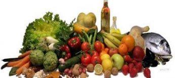 Alimentos de España, típicos de la dieta mediterránea.