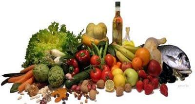 Alimentos frescos de España.