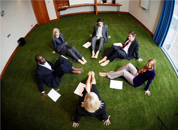 Hierba en sala de reuniones