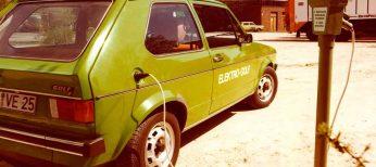 El primer Golf eléctrico, el CityStromer, debutó en 1989