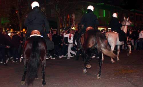 Caballos de la Policía Nacional