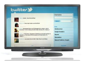 Un televisor conectado a Internet en Twitter.