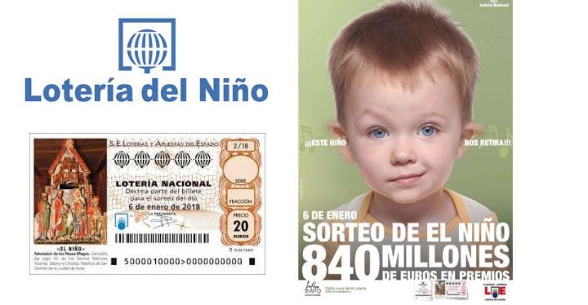 Las terminaciones que más veces han salido en la Lotería del Niño