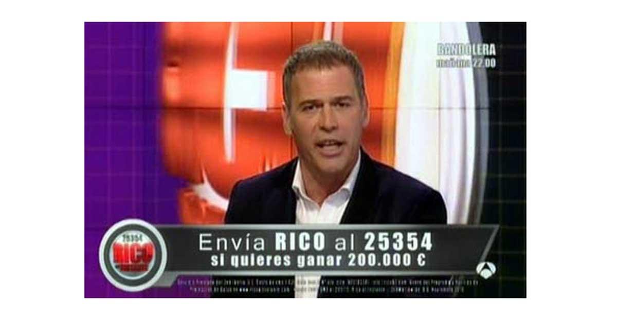 ¿Te ha llegado un SMS del programa Rico al instante de Antena 3? Estos son tus derechos