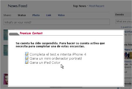 Malware usando Facebook como gancho.