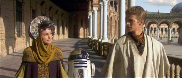 Rodaje de Star Wars en Sevilla, en la Plaza de España.