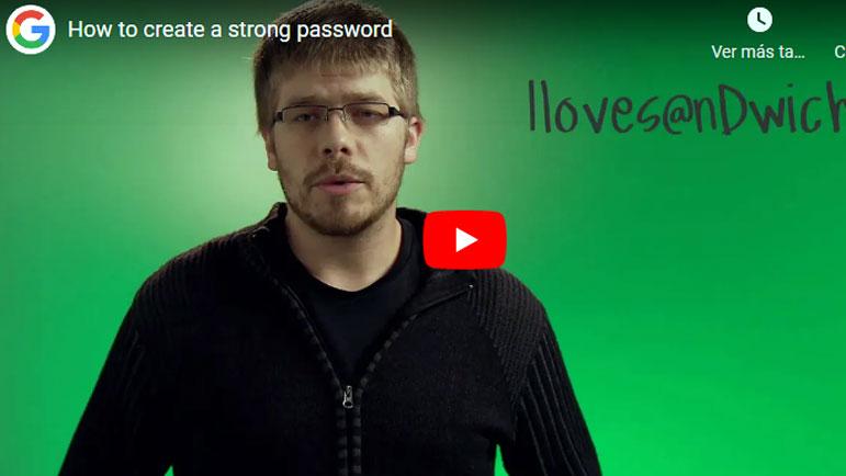 Video explicativo para crear contraseña en google