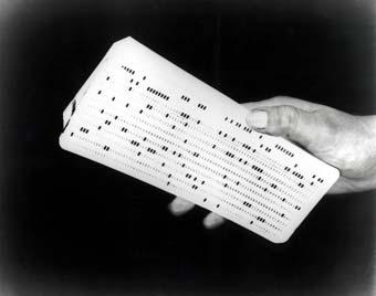 Primeras tarjetas perforadas de IBM.