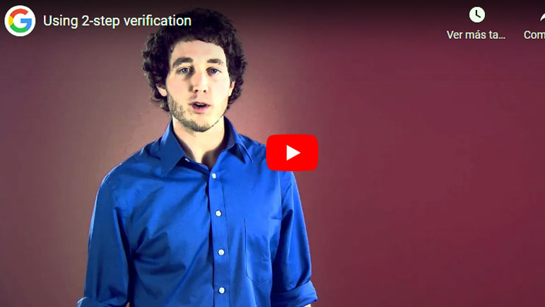 Video explicativo de seguridad y formación en google