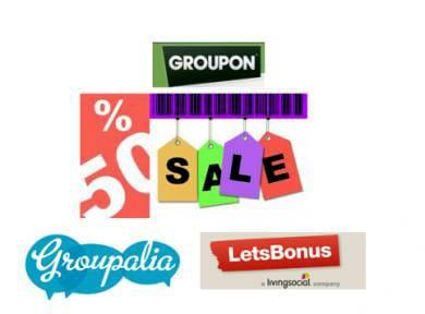 Cubes privados de compra, como Groupon, Privalia o Letsbonus