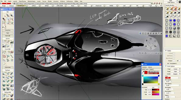 Diseño del Ferrari del futuro.