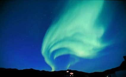 Aurora Boreal avistada en Groenlandia.