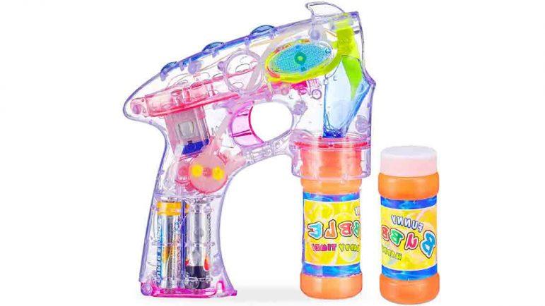 Las pistolas de hacer pompas de jabón de los niños, prohibidas por su peligrosidad