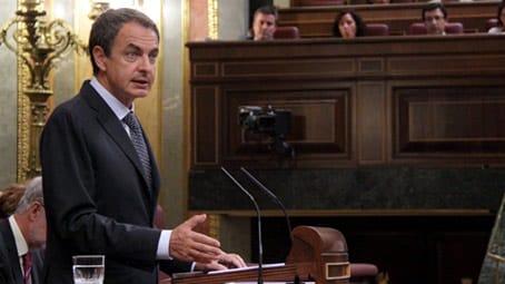 El presidente Zapatero en el Congreso.