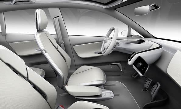 Interior del A2, concept car de Audi.