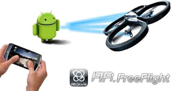 El Ar.Drone ya se puede manejar desde teléfonos con Android.