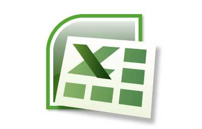 Logo del programa Excel de Microsoft.