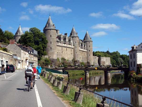 Castillo de Josselin en la Bretaña francesa.